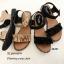 รองเท้าแตะลำลองแต่งระบายเมจิกเทป (สีดำ) thumbnail 6
