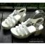 พร้อมส่ง : รองเท้าStyle nanda Shoesหน้าสาน (สีดำ) thumbnail 3
