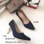 รองเท้าคัทชูกลิตเตอร์ส้นโลโหะ (สีเงิน) thumbnail 5