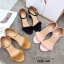 รองเท้าส้นตันแต่งขน (สีดำ) thumbnail 10