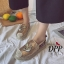 รองเท้าคัทชูสวมกากเพชรลายสมอ (สีเงิน) thumbnail 7