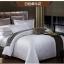 (Pre-order) ชุดผ้าปูที่นอน ปลอกหมอน ปลอกผ้าห่ม ผ้าคลุมเตียง ผ้าซาตินสีขาว เนื้อละเอียดทอลายเพรสลี่ในตัว thumbnail 2