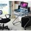 Pre-order โต๊ะทำงาน โต๊ะวางแล็ปท้อป โต๊ะคอมพิวเตอร์พีซี แผ่นท้อปกระจก สีฟ้า thumbnail 2