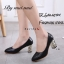 รองเท้าคัทชูส้นฝังเพชร (สีดำ) thumbnail 2