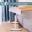 Pre-order โต๊ะทำงานปรับระดับ โต๊ะวางคอมพิวเตอร์ โต๊ะวางแล็ปท้อป เฟอร์นิเจอร์ตกแต่งบ้าน ตกแต่งห้อง แบบปรับได้ทั้งความสูงและองศามุมมอง สีขาวพิมพ์ลายดอกไม้สีดำ thumbnail 1