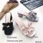รองเท้าเปิดส้นซาติน (สีเทา) thumbnail 14