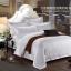 (Pre-order) ชุดผ้าปูที่นอน ปลอกหมอน ปลอกผ้าห่ม ผ้าคลุมเตียง ผ้าฝ้ายผสมสีขาว เนื้อละเอียดทอลายริ้วในตัว thumbnail 1