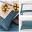 (Pre-order) ชุดผ้าปูที่นอน ปลอกหมอน ปลอกผ้าห่ม ผ้าคลุมเตียง ผ้าไหม ผ้าซาติน และผ้าฝ้าย สีฟ้าขาว แบบทูโทน thumbnail 7