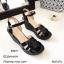 รองเท้าส้นเตารีดหนังเงาสไตล์ YSL (สีดำ) thumbnail 3