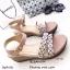 รองเท้าส้นเตารีดสไตล์ BaoBao (สีเทา) thumbnail 5