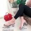 รองเท้าส้นตันสวมใสนิ่ม (สีดำ) thumbnail 4