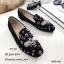 รองเท้าคัทชูทรงสวมปักลายผึ้ง Style Gucci (สีครีม) thumbnail 5