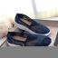รองเท้าผ้าใบลูกไม้ถักเสริมส้น (สีเทา) thumbnail 7