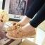 รองเท้าผ้าใบลูกไม้วินเทจแบบโปร่ง (สีกากี) thumbnail 2