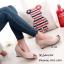 รองเท้าคัทชูส้นเตารีดกำมะหยี่ (สีครีม) thumbnail 2