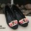 รองเท้าคัทชูส้นแบน Style Gucci (สีน้ำตาลอ่อน) thumbnail 8