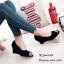 รองเท้าคัทชูส้นเตารีดกำมะหยี่ (สีครีม) thumbnail 4