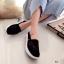 รองเท้าผ้าใบลูกไม้ถักเสริมส้น (สีเทา) thumbnail 6