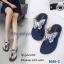 รองเท้าแตะผีเสื้อแต่งเพชร (สีดำ) thumbnail 6