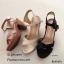 รองเท้าส้นตันสายไขว้สไตล์ลำลอง (สีครีม) thumbnail 19