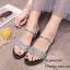 รองเท้าแตะริสตัลสไตล์แฟชั่นเกาหลี (สีดำ) thumbnail 6