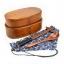 (พรีออเดอร์) กล่องข้าวไม้ กล่องข้าวญีปุ่น เบนโตะ กล่องห่ออาหารกลางวัน ไม้แท้ ลายสวย ปลอดภัย ทรงรี สองชั้น สีบีช thumbnail 2