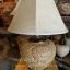 โคมไฟตั้งโต๊ะ ทำจากแจกันดินเผาด่านเกวียน ลวดลายดอกไม้ สีโคลนโทนน้ำตาล-ส้ม thumbnail 1