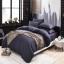 (Pre-order) ชุดผ้าปูที่นอน ปลอกหมอน ปลอกผ้าห่ม ผ้าคลุมเตียง ผ้าฝ้าย สีพื้น สีเทาม่วง thumbnail 1