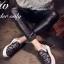 รองเท้าผ้าใบเสริมส้นแต่งลายลูกไม้ (สีขาว) thumbnail 5