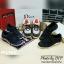พร้อมส่ง : รองเท้าผ้าใบ MIUMIU Jeweled Satin Lace-Up Sneaker (สีกรม) thumbnail 5