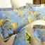 (Pre-order) ชุดผ้าปูที่นอน ปลอกหมอน ปลอกผ้าห่ม ผ้าคลุมเตียง ผ้าฝ้ายอเมริกาพิมพ์ลายดอกไม้สไตล์วินเทจ โทนสีฟ้า thumbnail 2