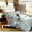 (Pre-order) ชุดผ้าปูที่นอน ปลอกหมอน ปลอกผ้าห่ม ผ้าคลุมเตียง ผ้าฝ้ายอเมริกาพิมพ์ลายดอกไม้สไตล์วินเทจ โทนสีฟ้า thumbnail 1