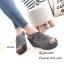 รองเท้าส้นเตารีดหนังกลับสไตล์ลำลอง (สีดำ) thumbnail 7