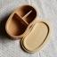 (พรีออเดอร์) กล่องข้าวไม้ กล่องข้าวญีปุ่น เบนโตะ กล่องห่ออาหารกลางวัน ไม้แท้ ลายสวย ปลอดภัย ทรงเม็ดถั่ว ชั่นเดียว สีบีช thumbnail 3