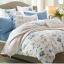 (Pre-order) ชุดผ้าปูที่นอน ปลอกหมอน ปลอกผ้าห่ม ผ้าคลุมเตียง ผ้าฝ้ายพิมพ์ลายดอกไม้สไตล์วินเทจ สีฟ้า thumbnail 1
