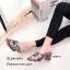 รองเท้าส้นตันเปิดส้น Style YSL (สีครีม) thumbnail 8