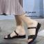 รองเท้าแตะสวมแต่งคริสตัล (สีดำ) thumbnail 1