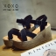 รองเท้าส้นเตารีดส้นหวาย (สีเทา) thumbnail 6