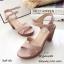 รองเท้าส้นตันสายไขว้สไตล์ลำลอง (สีครีม) thumbnail 9