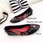 รองเท้าส้นแบนลายดอก Style Gucci (สีดำ) thumbnail 2