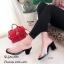 รองเท้าส้นตันสวมใสนิ่ม (สีดำ) thumbnail 1