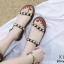 รองเท้าแต่งมุกสไตล์ลำลอง (สีน้ำตาล) thumbnail 5