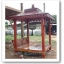 ศาลาบาหลี ศาลาไม้ เสาเหลี่ยม หลังคาสองชั้น ไม้เนื้อแข็งรวม ศาลาไม้สำหรับนั่งเล่นในสวนหรือตกแต่งสวน thumbnail 4