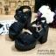 พร้อมส่ง : รองเท้าสไตล์เกาหลีลายลูกไม้ (สีดำ) thumbnail 1