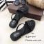รองเท้าแตะริสตัลสไตล์แฟชั่นเกาหลี (สีดำ) thumbnail 1