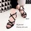 รองเท้าส้นตันสายไขว้ (สีดำ) thumbnail 3