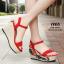 รองเท้าส้นเตารีด Platform GC (สีแดง) thumbnail 2