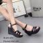รองเท้าส้นเตารีดหนังเงาสไตล์ YSL (สีดำ) thumbnail 1