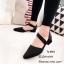 รองเท้าส้นเตี้ยทรงหัวแหลม (สีครีม) thumbnail 4