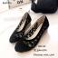 รองเท้าคัทชูลูกไม้ซีทรู (สีดำ) thumbnail 1